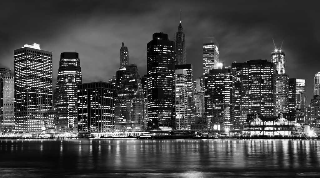 Фотообои черно белые города фото