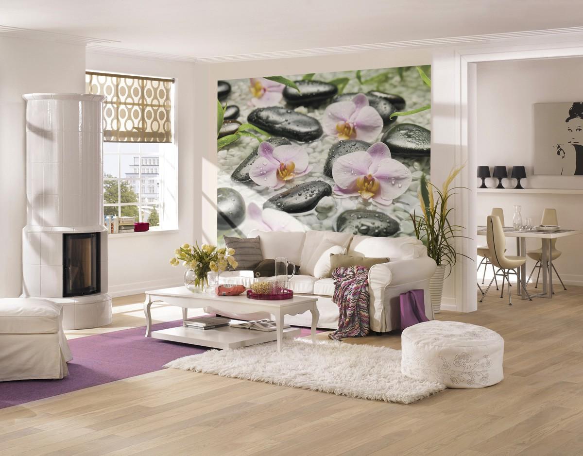 фотопечать на стене модные идеи для гостиной