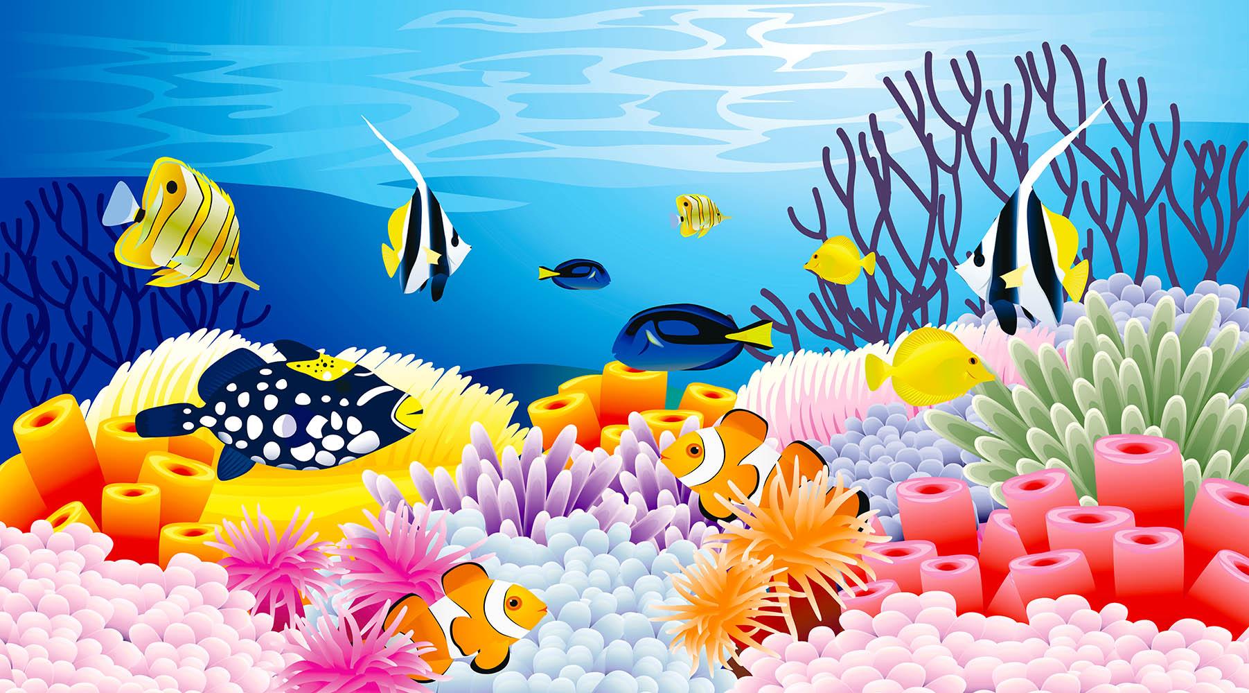 Детская картинка подводный мир
