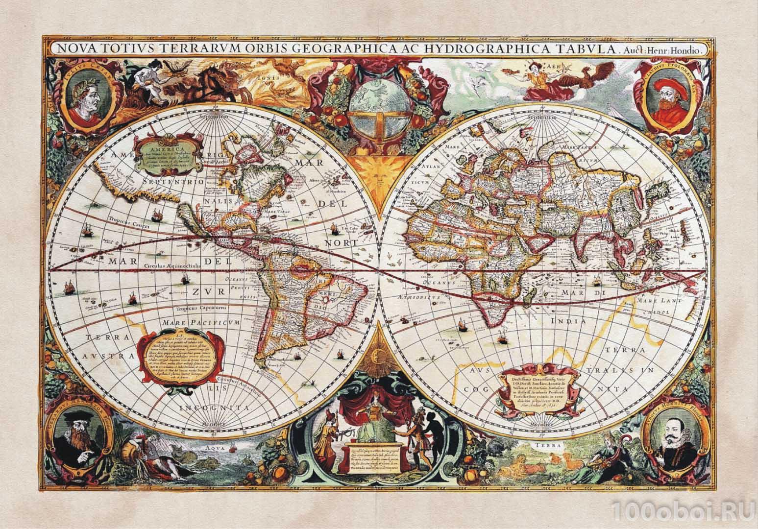 фотообои старинная карта: