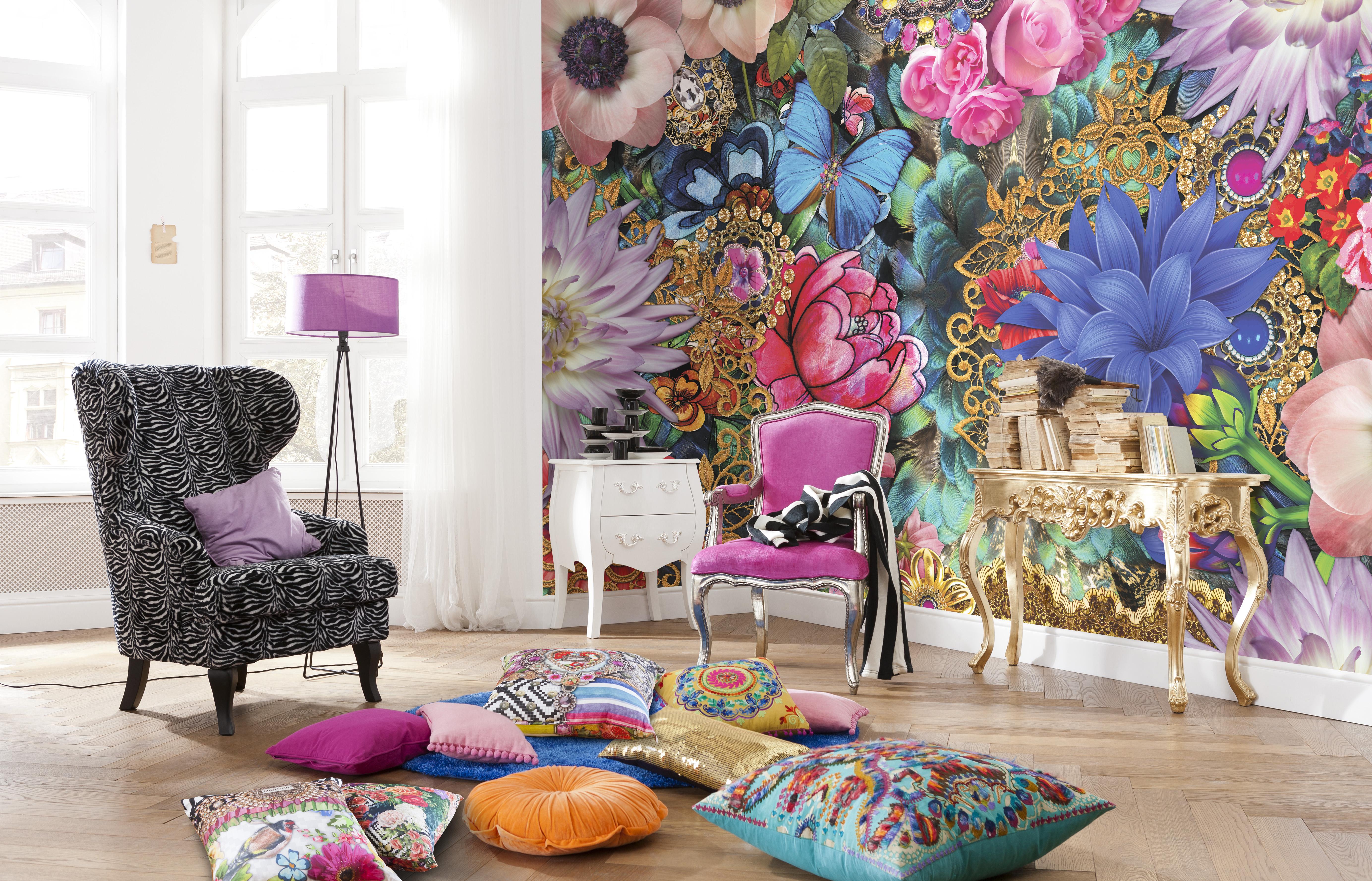 Фото дизайн фотообои из цветов