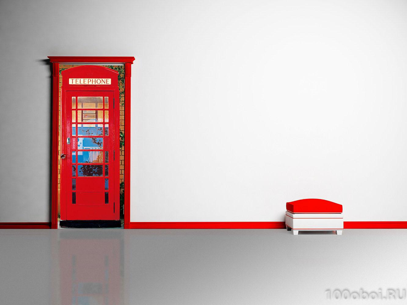 Как сделать дверь английскую телефонную будку