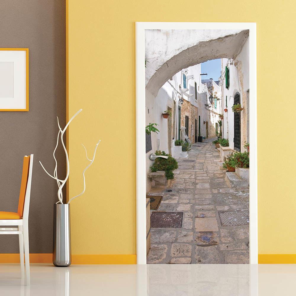 фотообои на дверь самоклеющиеся в леруа мерлен френч, омбре, матовые