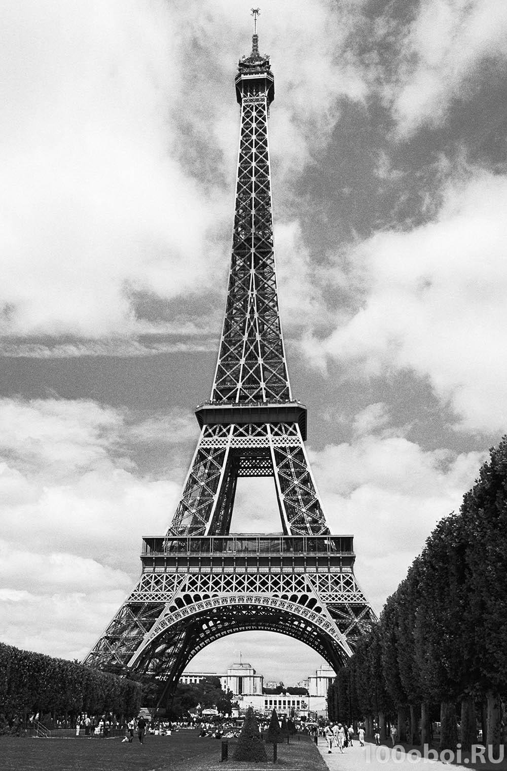 эйфелева башня чёрно-белые картинки