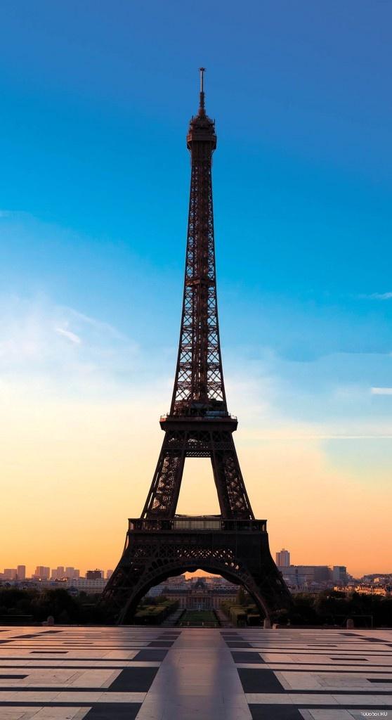 фотообои на стену эйфелева башня: