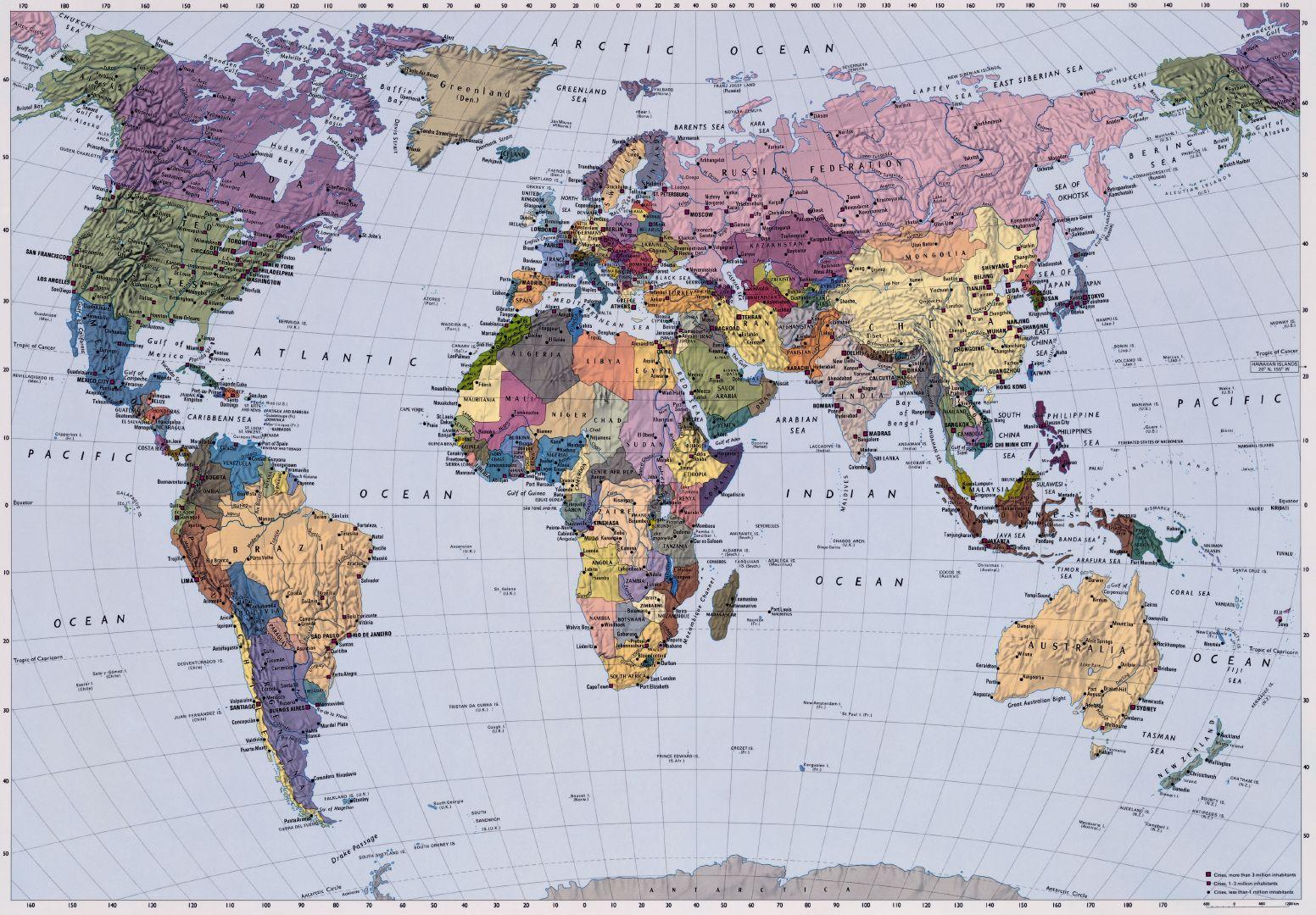 карта мира со странами крупно фото говоря