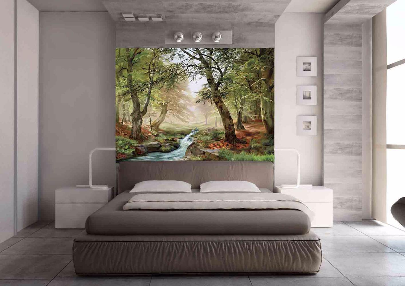 фотообои в спальню над кроватью фото вольера