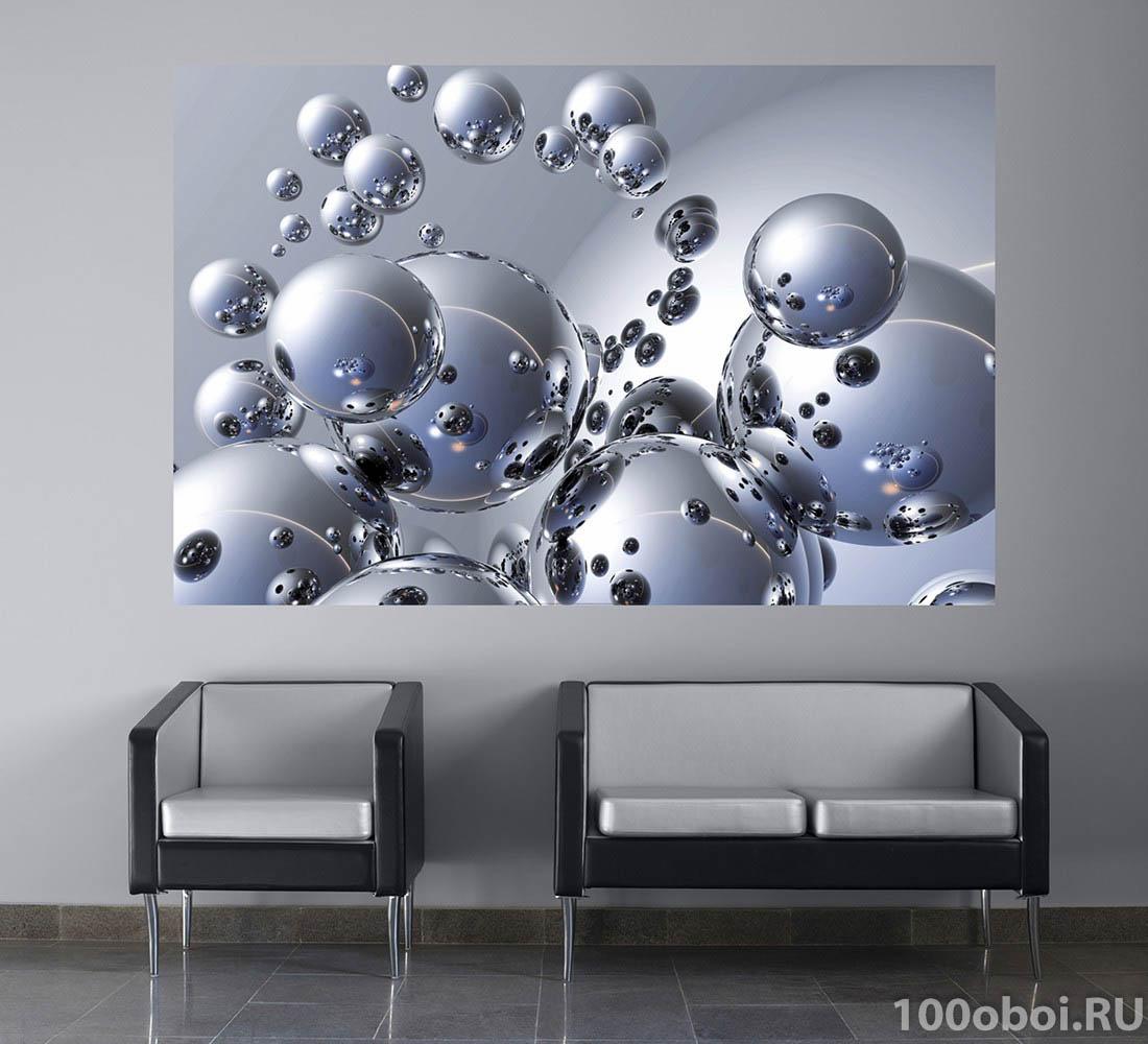 Постеры абстракция для интерьера в виде шаров центре
