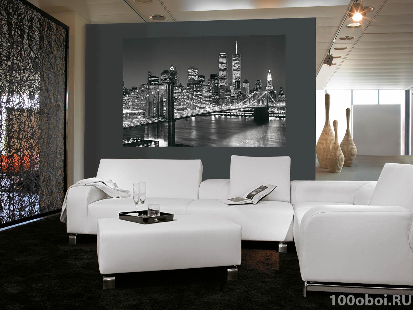 фотообои бруклинский мост в интерьере: