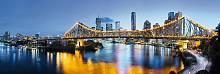 ФЛИЗЕЛИНОВЫЕ фотообои на стену «Ночной город Брисбен». Komar XXL2-010 Brisbane