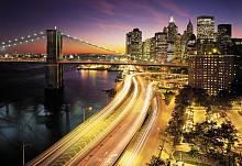 ФЛИЗЕЛИНОВЫЕ фотообои на стену «Огни Нью-Йорка» KOMAR 8NW-516 NYC Lights