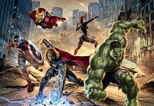 Детские фотообои на стену «Мстители» Komar 8-432 Avengers Street Rage