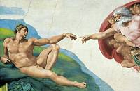 Фотообои  «Создание Адама» WG 00686 The Creation of Adam