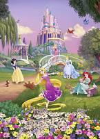Детские фотообои на стену «Принцессы Рапунцель, Белоснежка и Золушка» Komar 4-4026 Princess Sunset