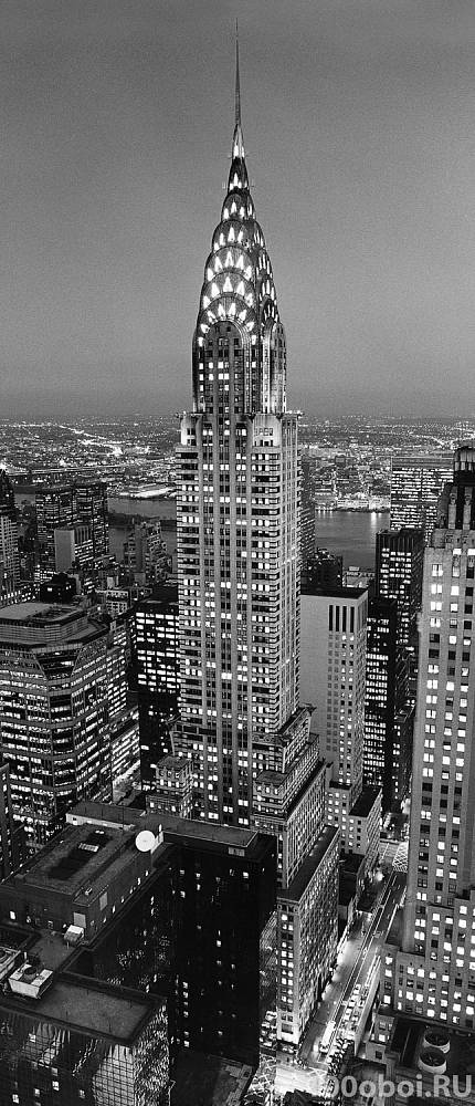 Фотообои на двери «Башня компании Крайслер». WG 00521 Chrysler Building