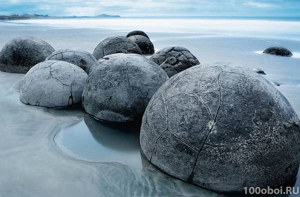 Фотообои «Вечер в Моераки» WG 00685 Moeraki Evening