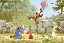 Детские фотообои на стену «Винни Пух и воздушный шар» Komar 8-460 Winnie Pooh Ballooning