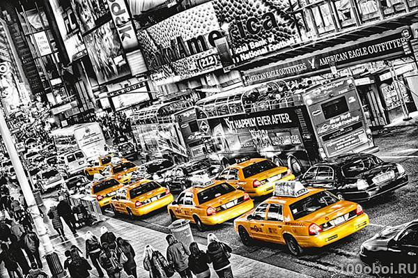 Фотообои «Такси» WG 00696 Cabs Queue