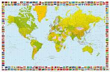 Фотообои «Карта Мира» WG 00655 Map of the World