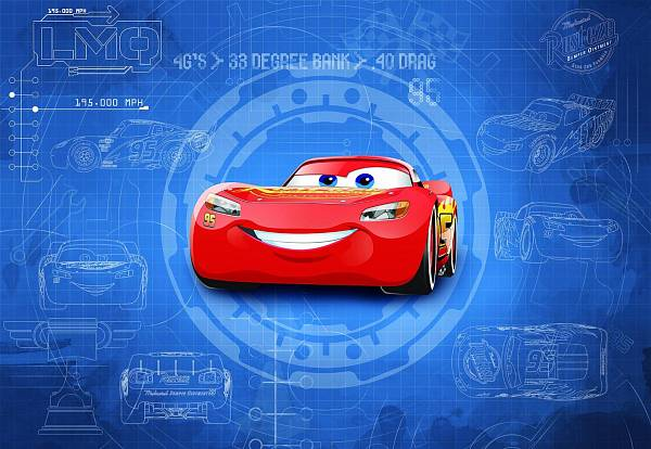 Фотообои на стену «ТАЧКИ 3 Чертеж» Komar 8-488 Cars3 Blueprint