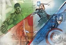 Детские фотообои на стену «Мстители Рисунок» Komar 8-456 Avengers Graphic Art